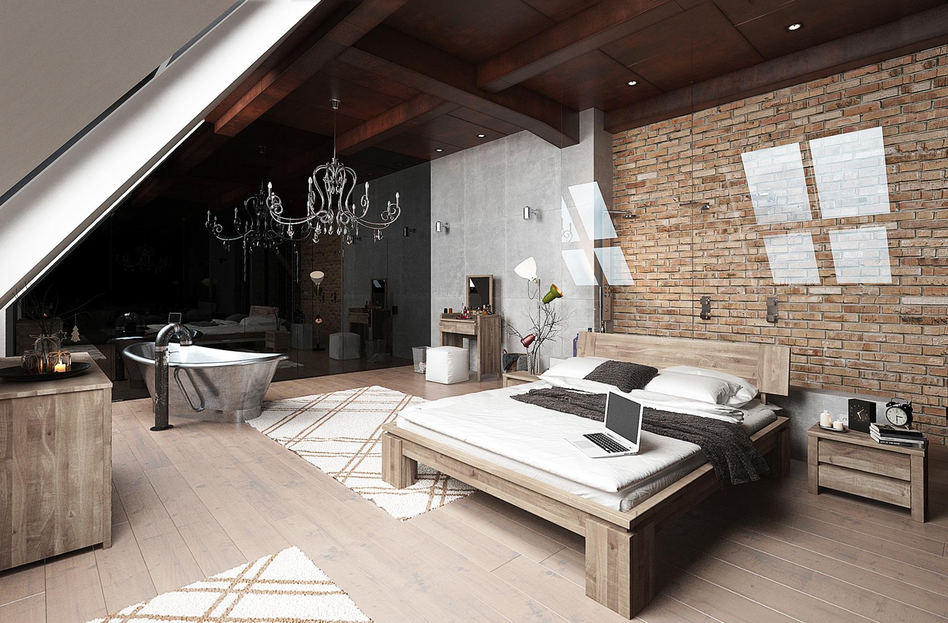 Prawidłowo oświetlona sypialnia