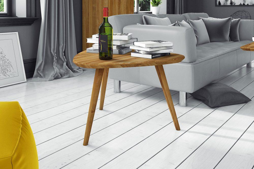 Prezentacja usłojenia stolika kawowego z nowej kolekcji