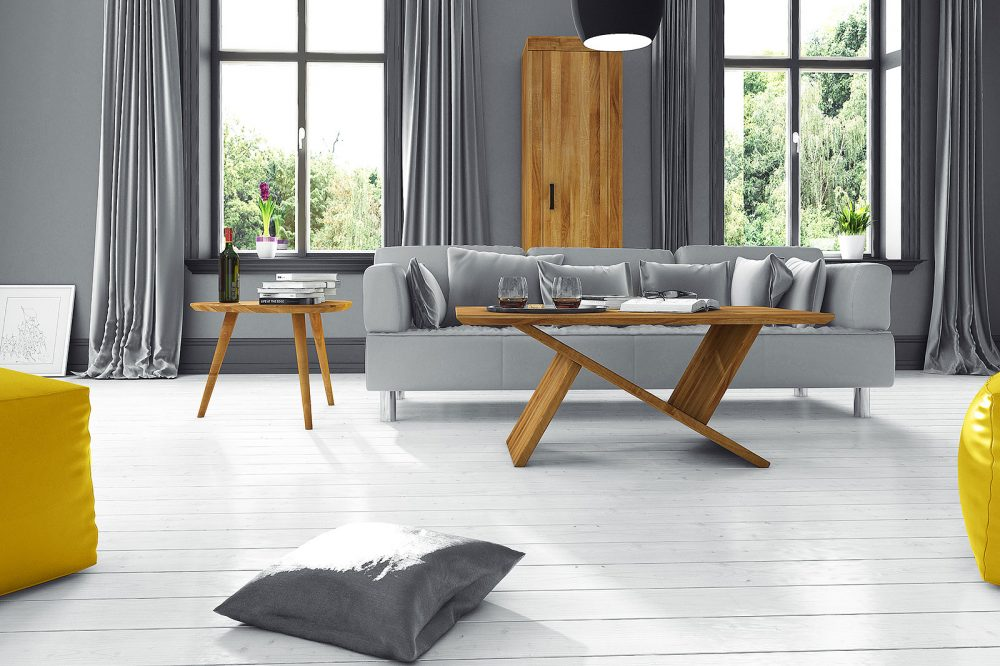 Minimalistyczny salon z kolekcji The Beds