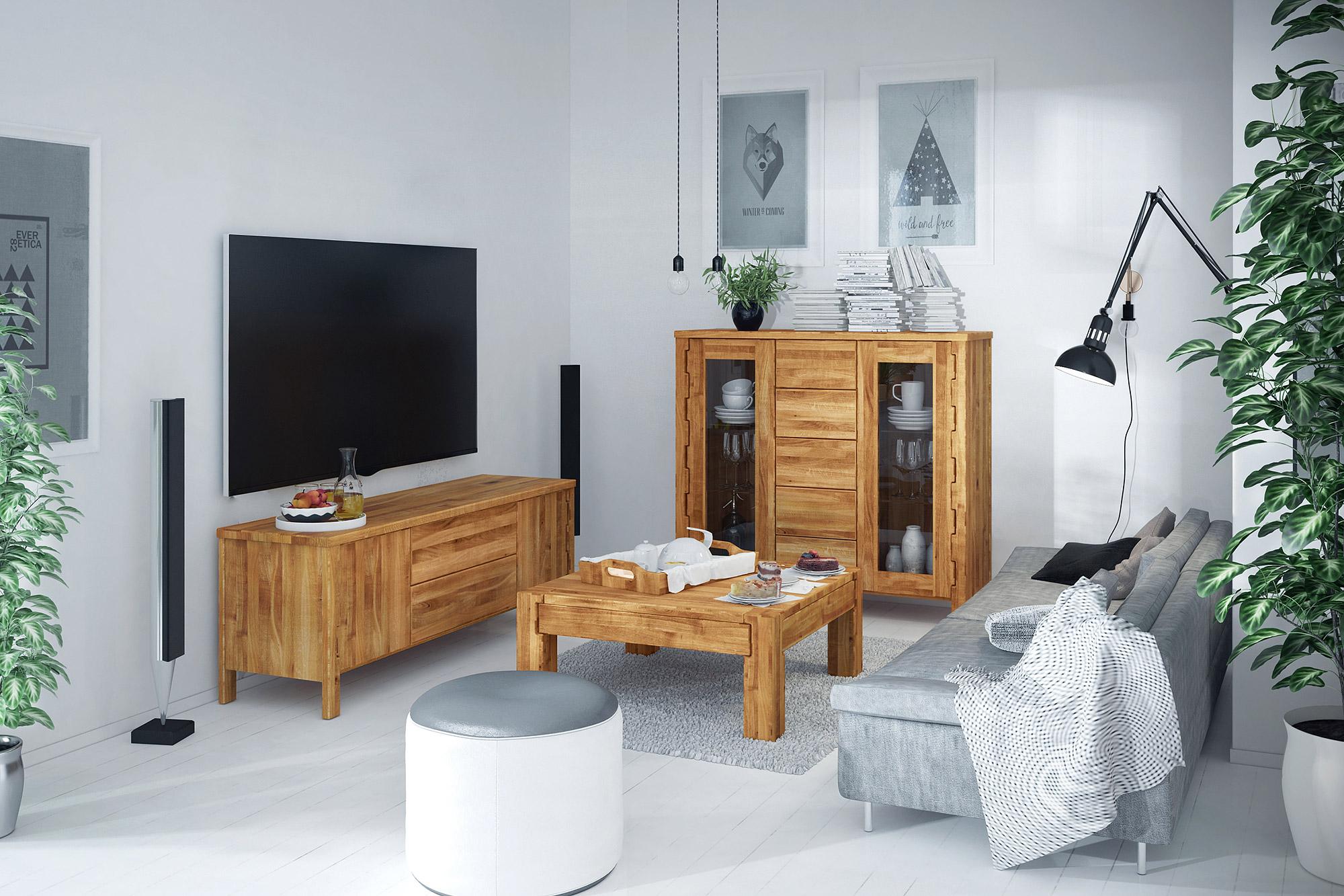 Meble z drewniane z kolekcji Koli The Beds