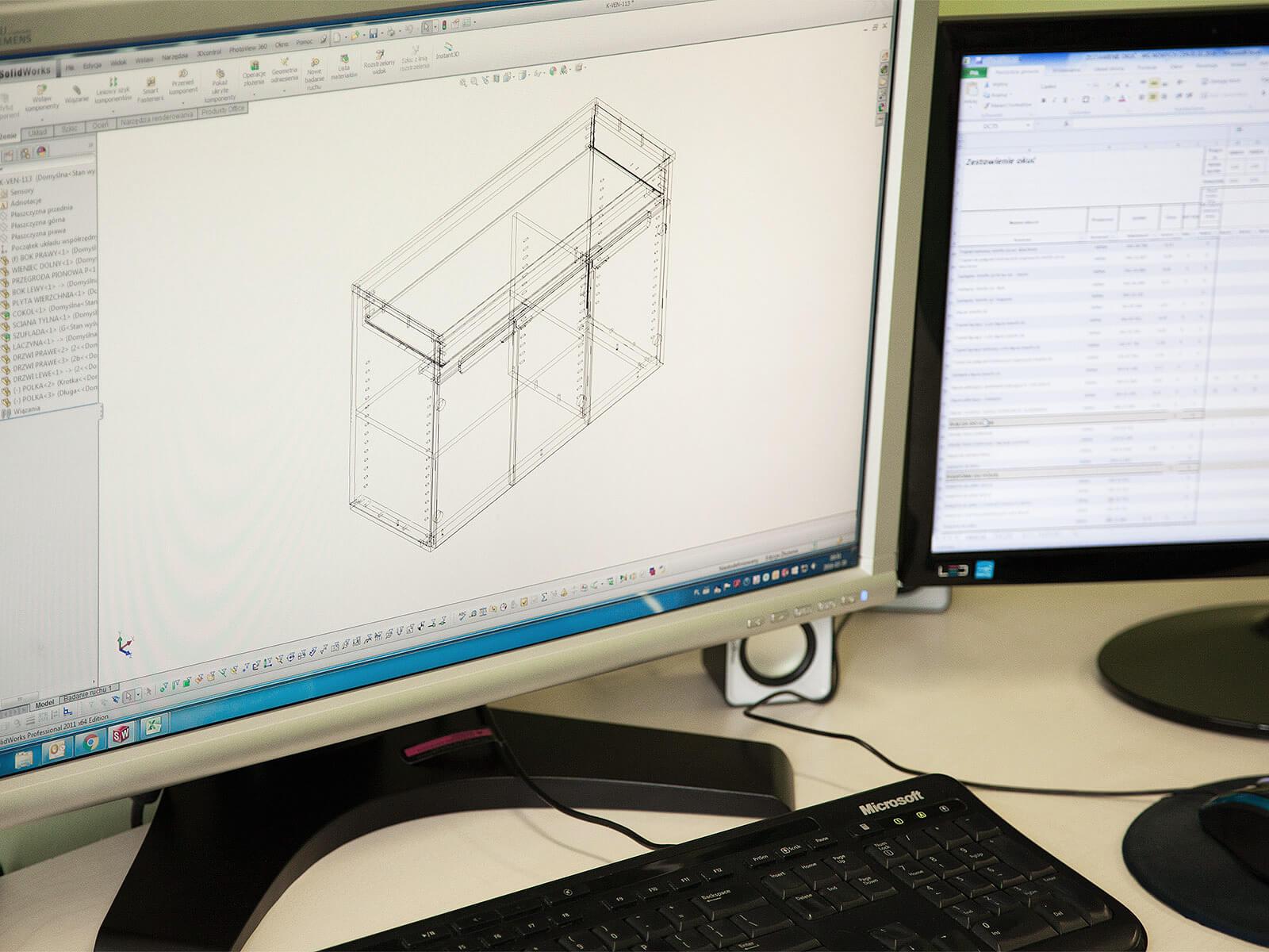 Projektowanie mebla on-line
