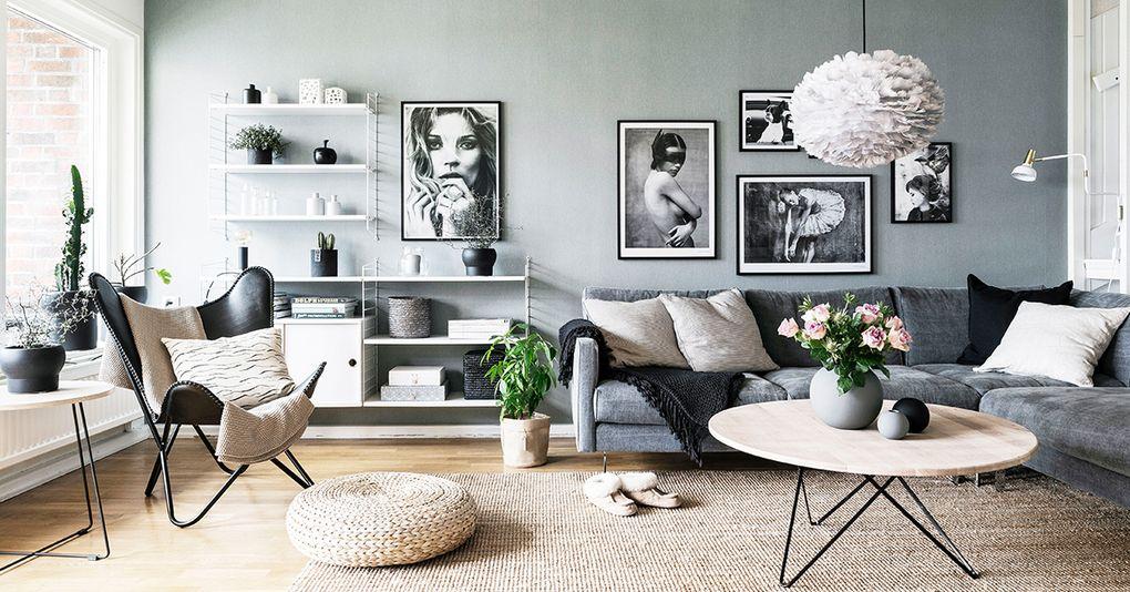 Aranżacja w skandynawskim stylu - salon