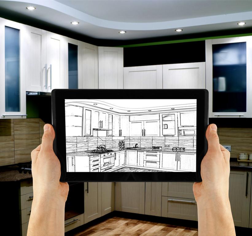 Meblowanie kuchni za pomocą aplikacji