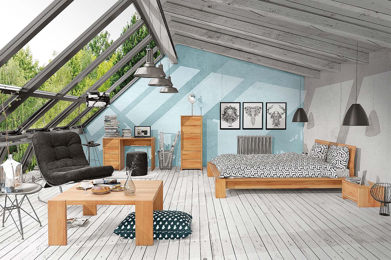 Meble drewniane do sypialni The Beds