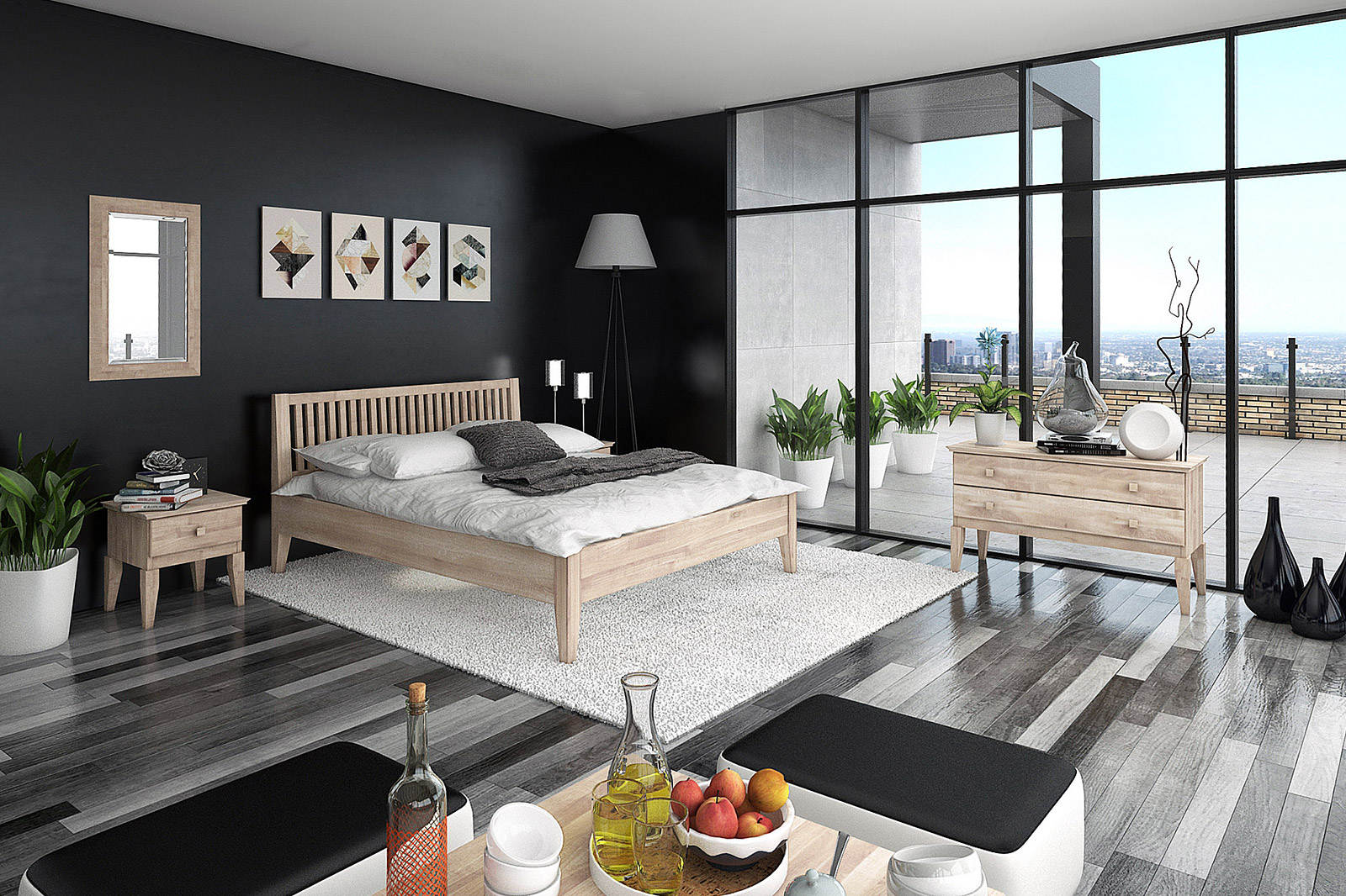 Sypialnia drewniana Odys
