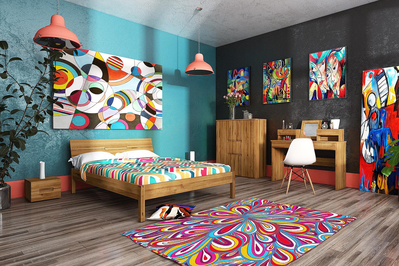 Sypialnia lite drewno z kolekcji Vento