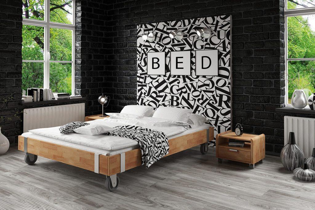 Łóżko z drewna litego - sypialnia młodzieżowa