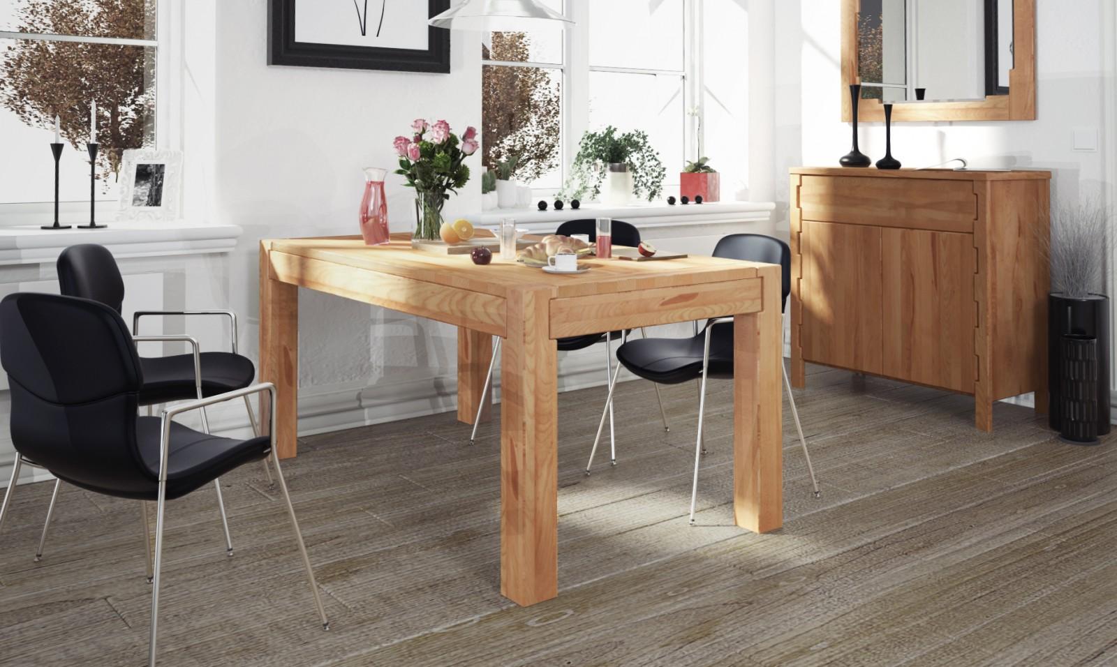 Pięknie zadbane meble drewniane w jadalni
