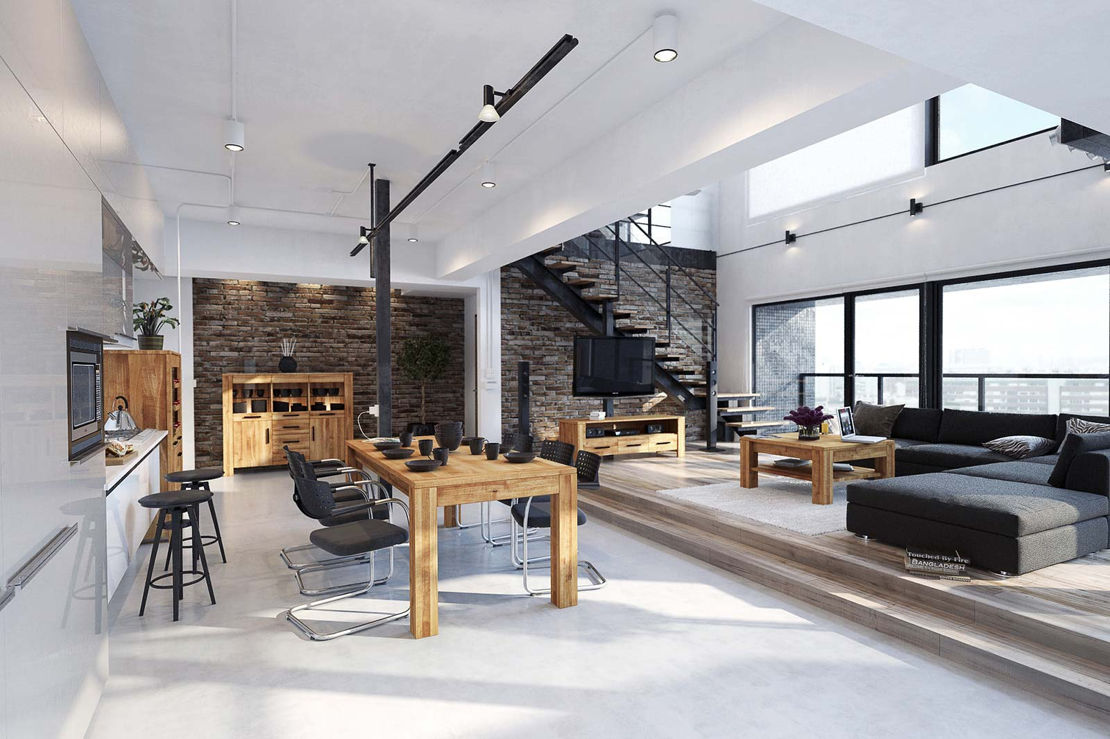 Industrialne meble drewniane