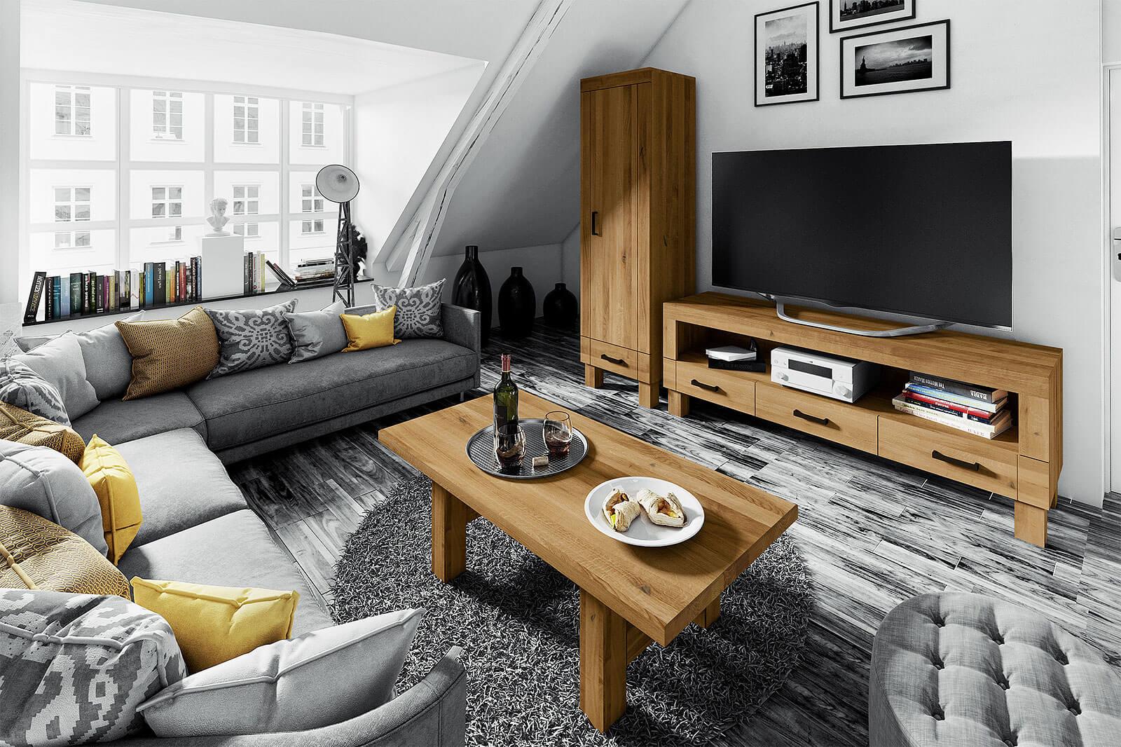 Mieszkanie na poddaszu - meble