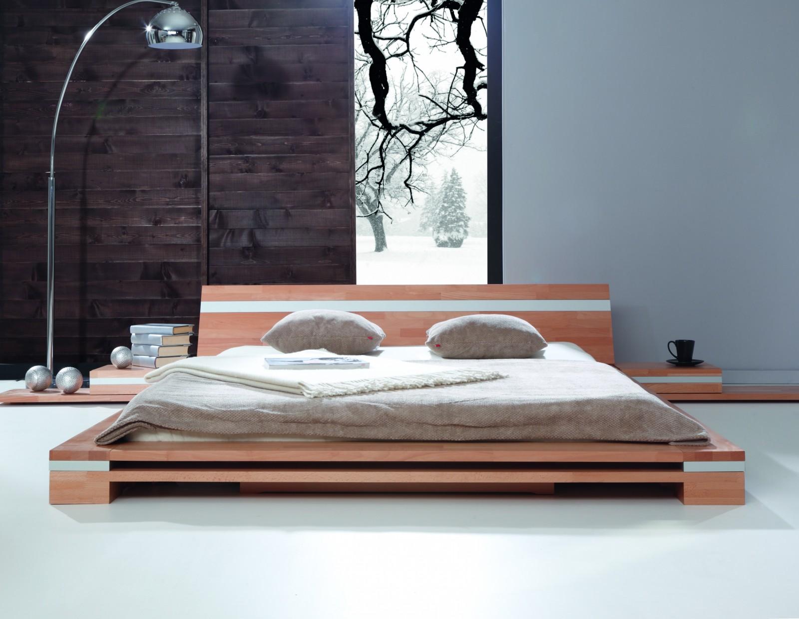 Zdrowe łóżko japońskie z drewna