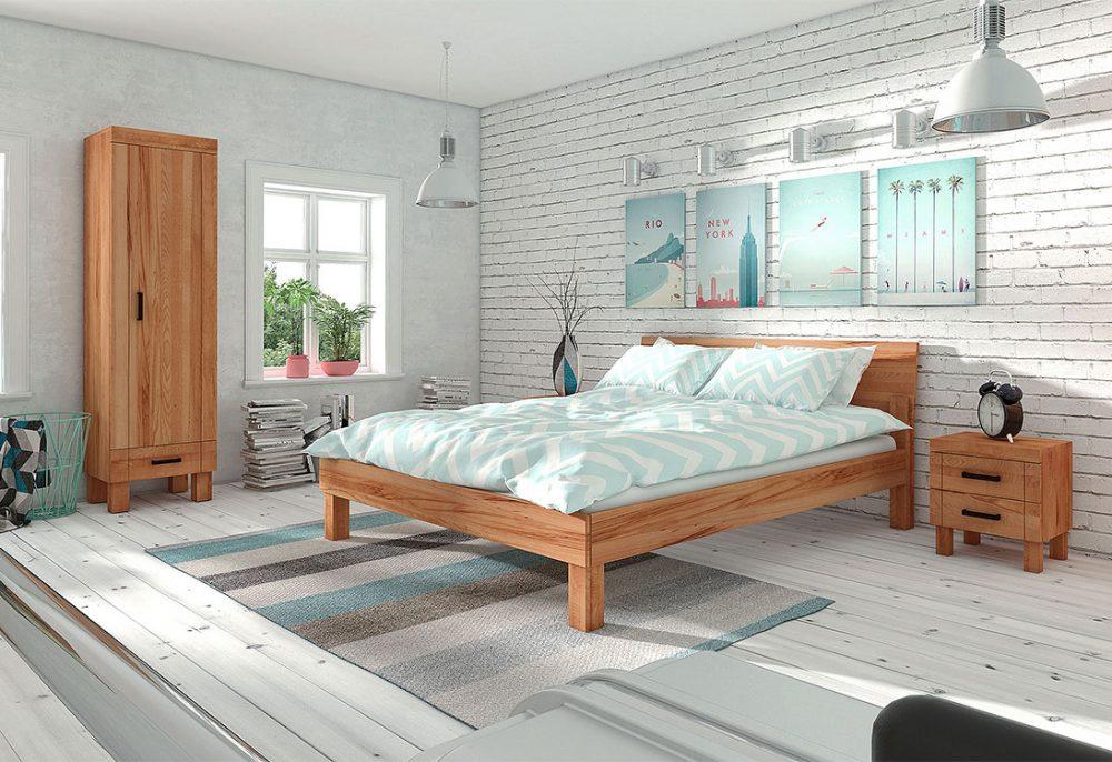 Różnorodność faktur w sypialni - PANORAMA 360°