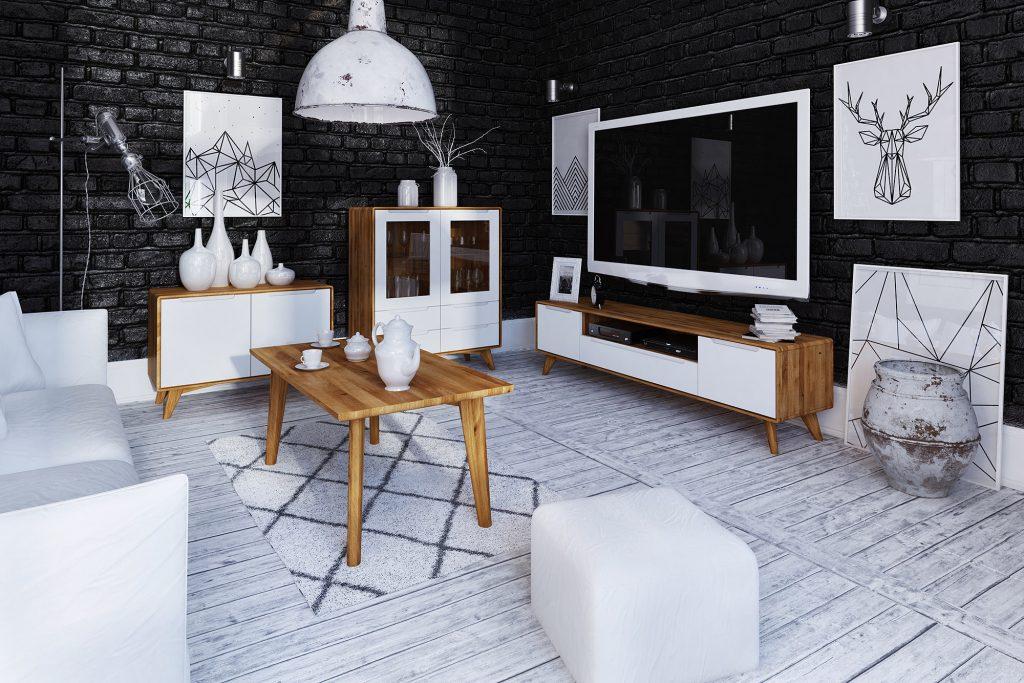 Kolekcja Bianco - meble drewniane z białymi frontami