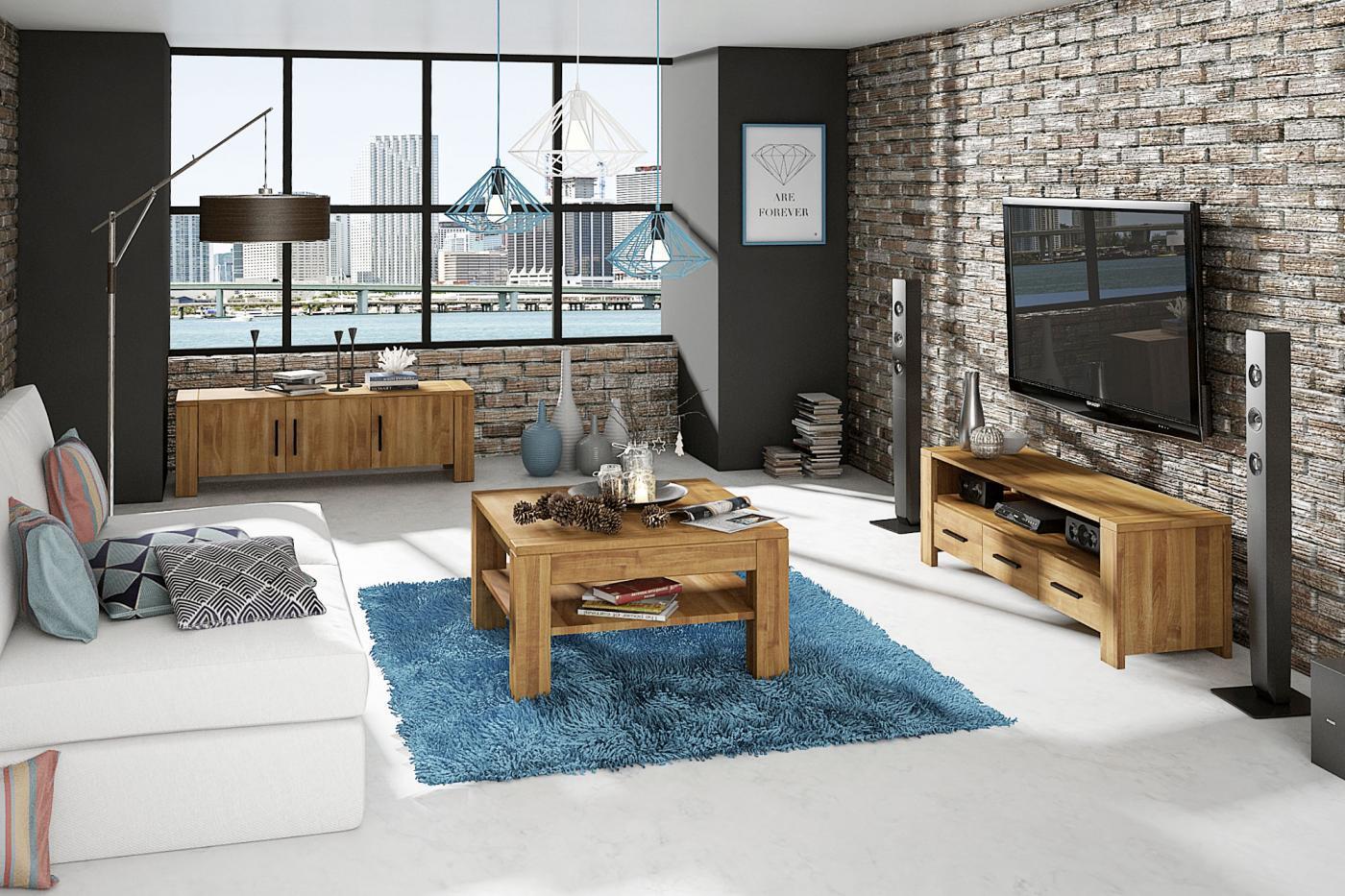 Aranżacja salonu z wykorzystaniem mebli drewnianych