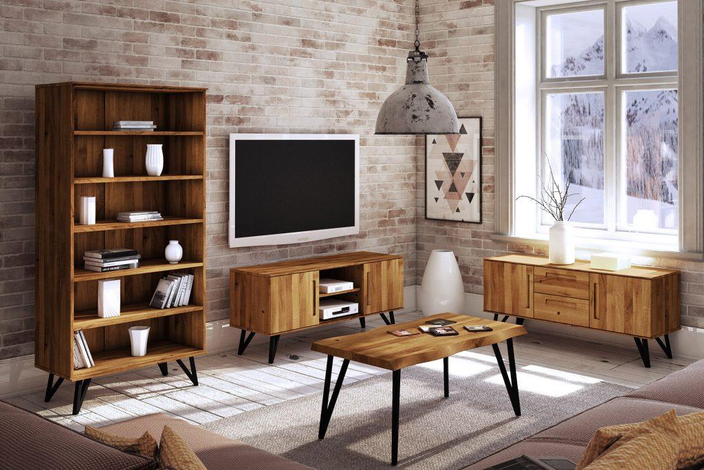 Stół drewniany z blatem Live Edge - kolekcja Golo