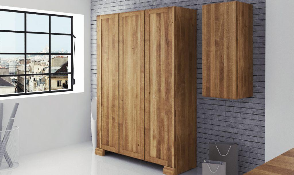 szafki i szafy drewniane z kolekcji Seti