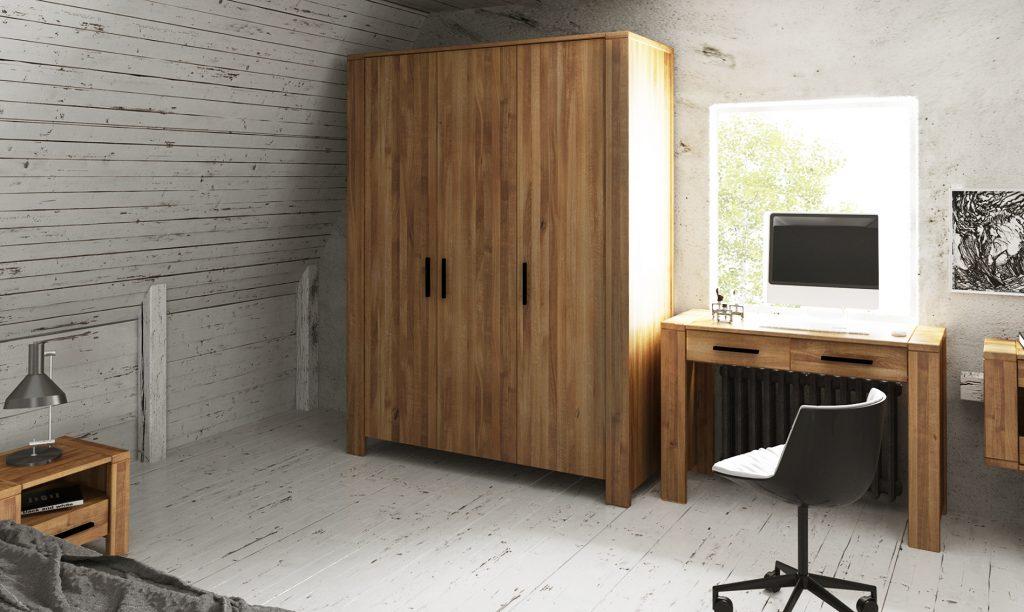 Szafy drewniane z kolekcji Cubic