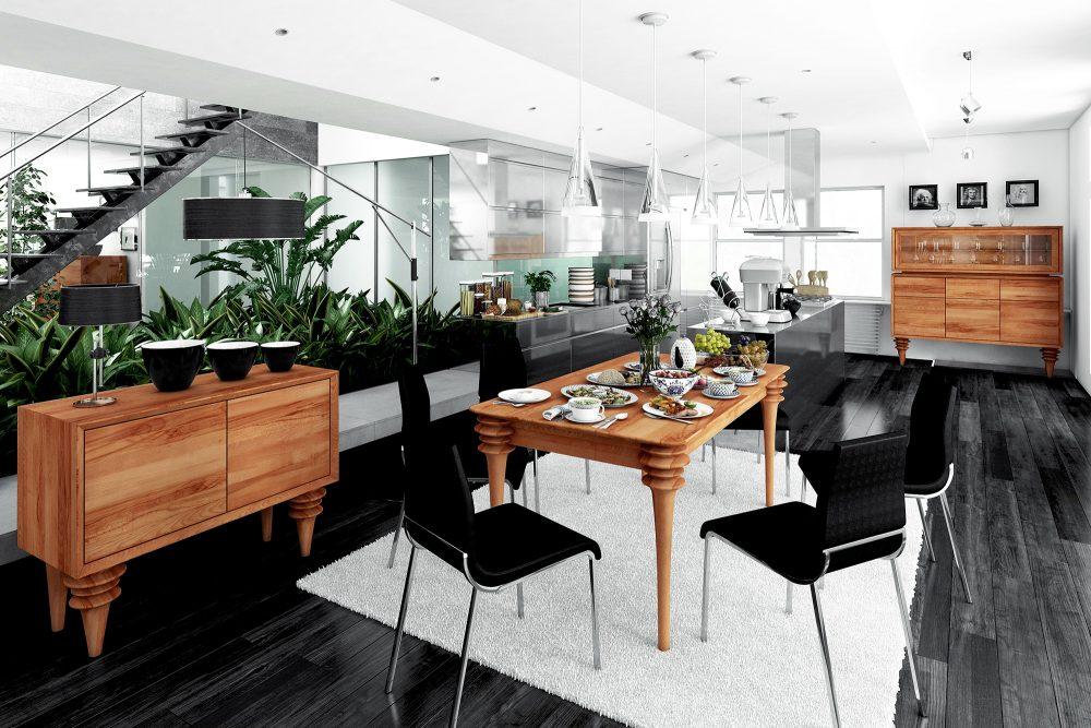 Drewniane stoły do jadalni — jakie wybrać, by były piękne, funkcjonalne i solidne?
