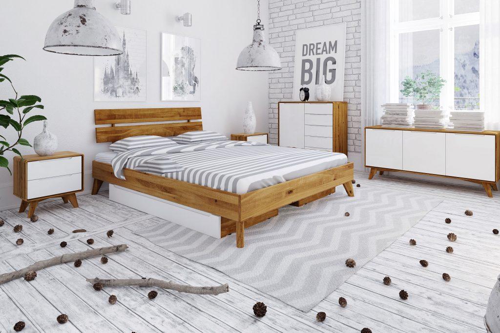 Aranżacja sypialni - meble z kolekcji Bianco z białymi frontami