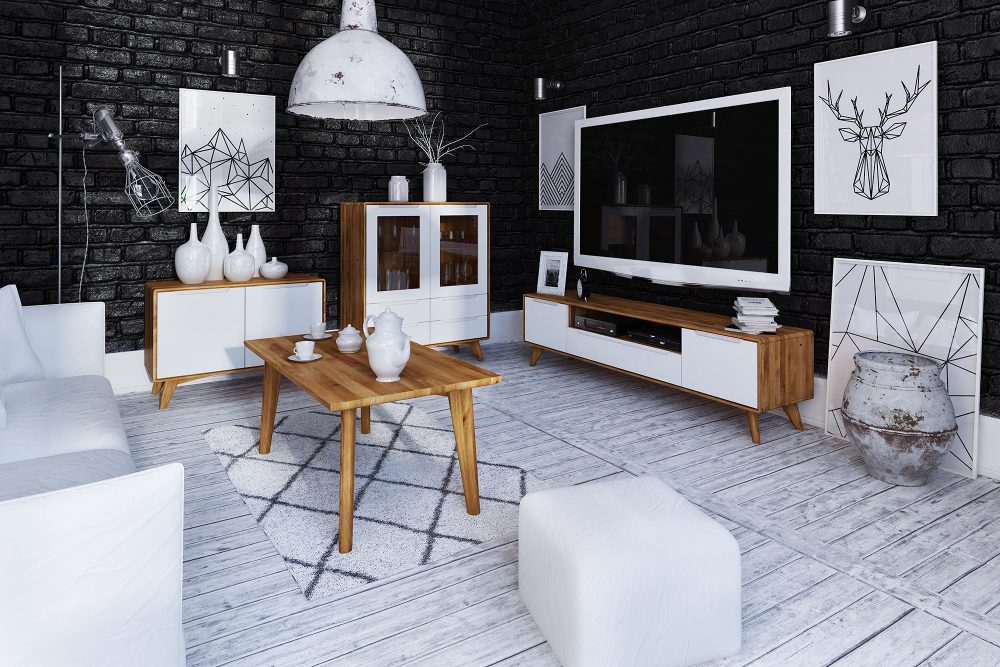 Salon w drewnie — jak połączyć podłogę i meble z drewna?