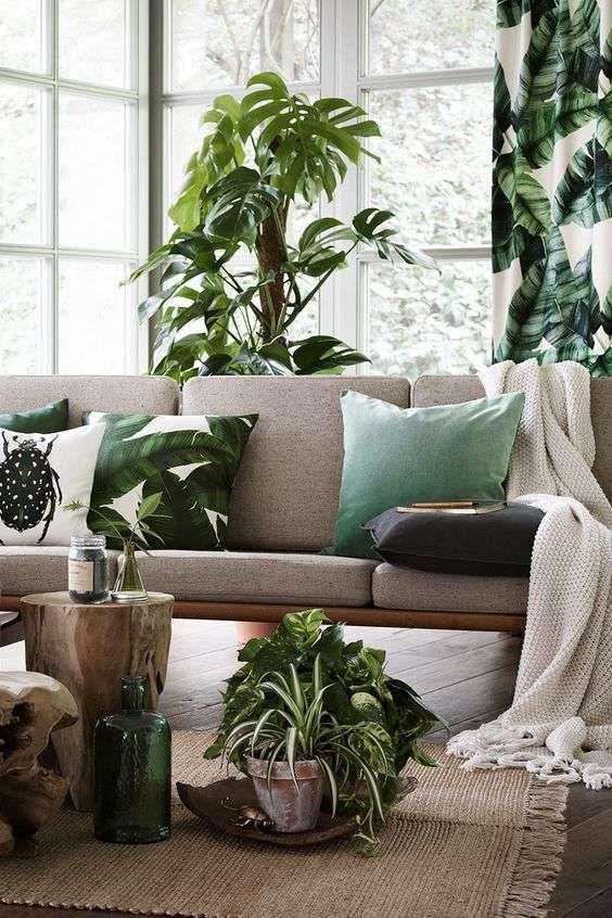 aranżacja urban jungle do salonu