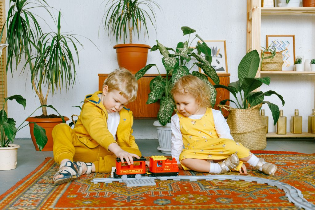 Kolorowy dywan w stylu boho