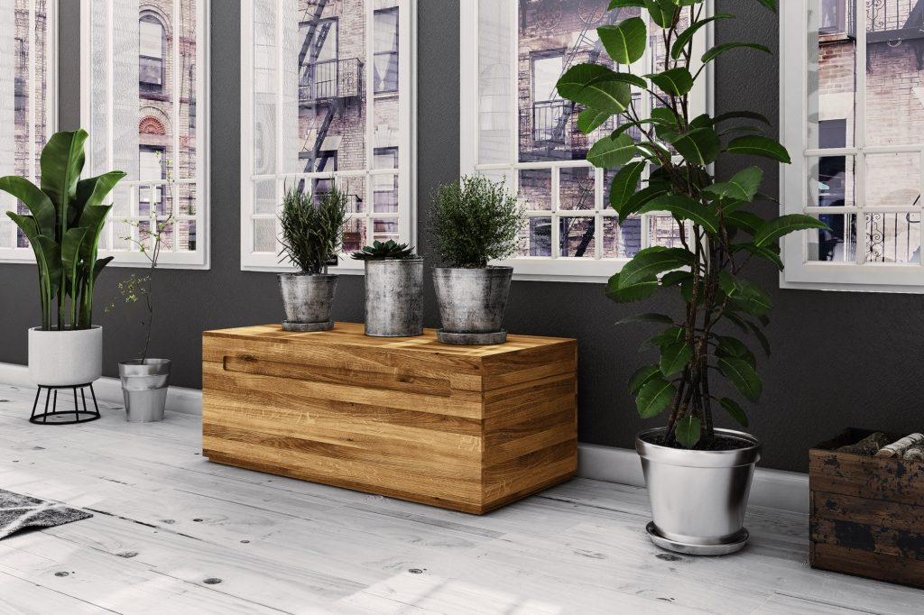 Drewniana skrzynia Vento
