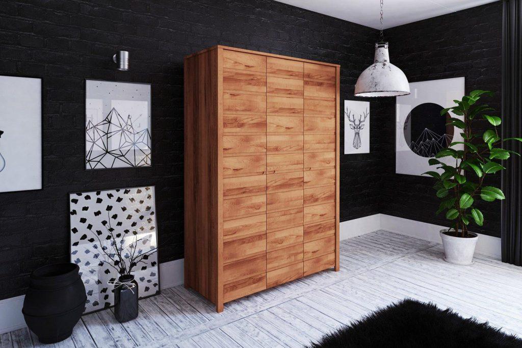 Szafa 3-drzwiowa Vinci z drewna litego