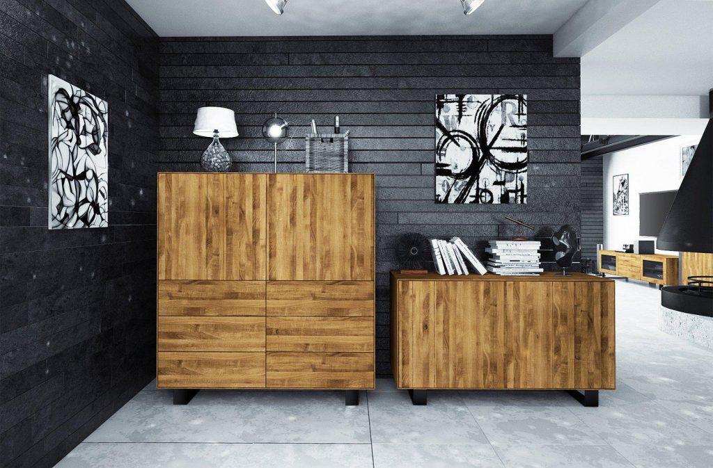 Kolekcja steel - meble z litego drewna