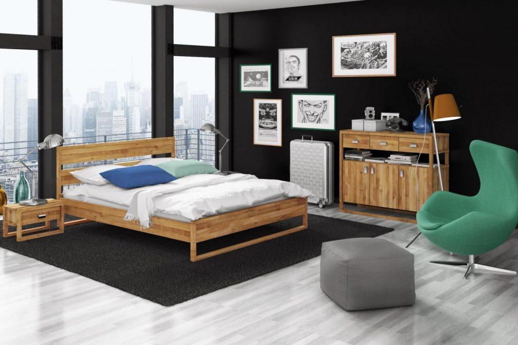 Okno panoramiczne w nowoczesnej sypialni