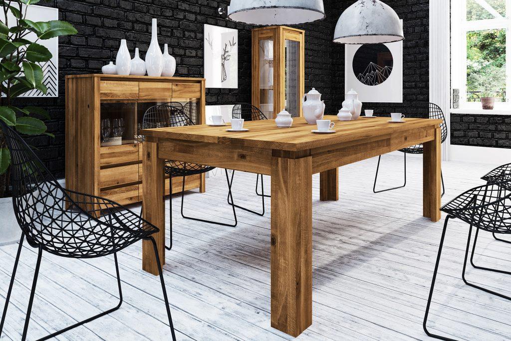 Drewniane meble z kolekcji Vinci