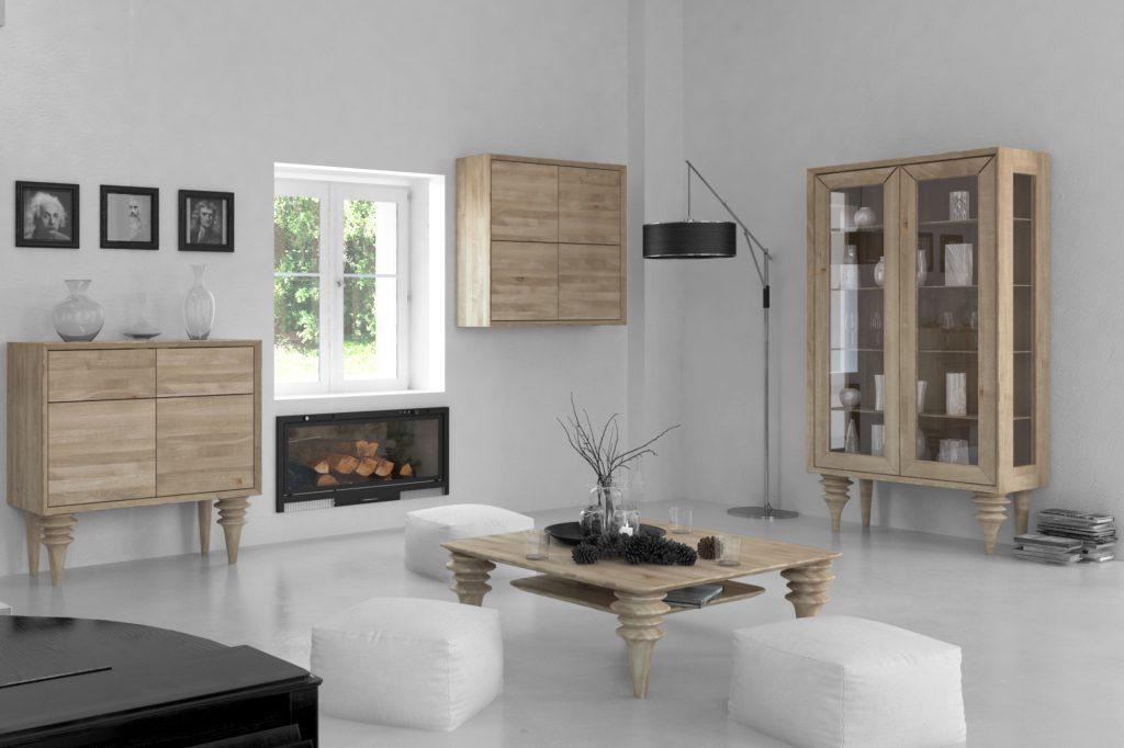 Kolekcja mebli drewnianych Paris