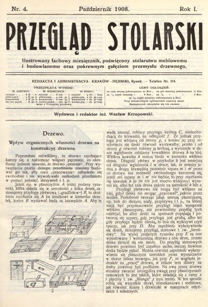Przegląd stolarski - fragment dwutygodnika o drewnie