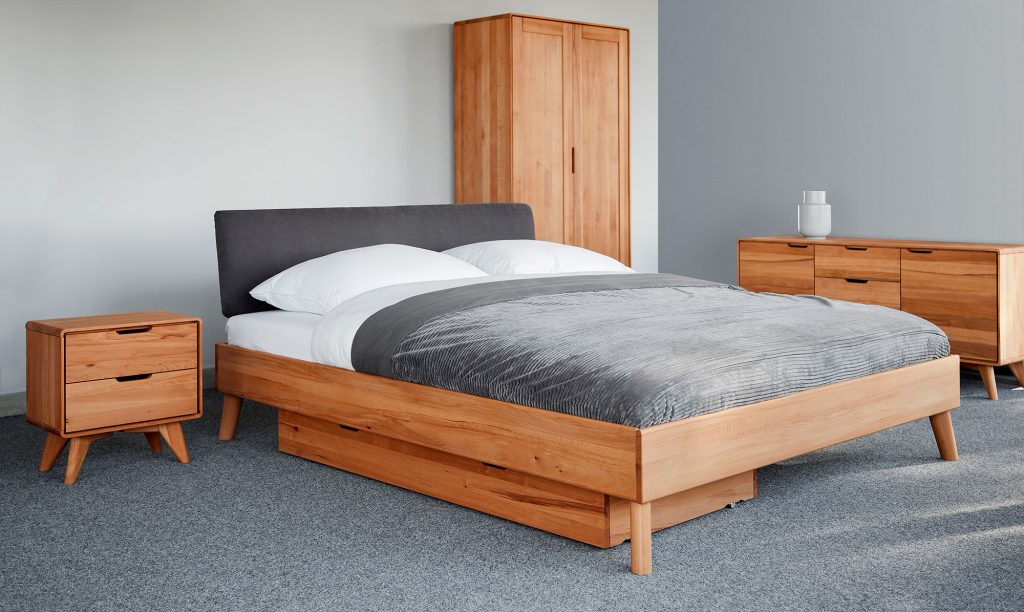 Łóżko Greg z szufladą na pościel