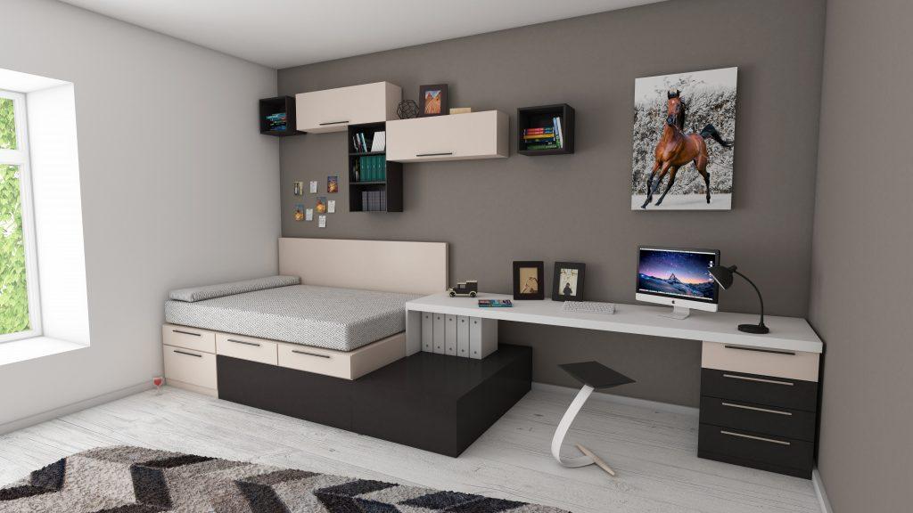 Modułowe, wielofunkcyjne meble do małych mieszkań