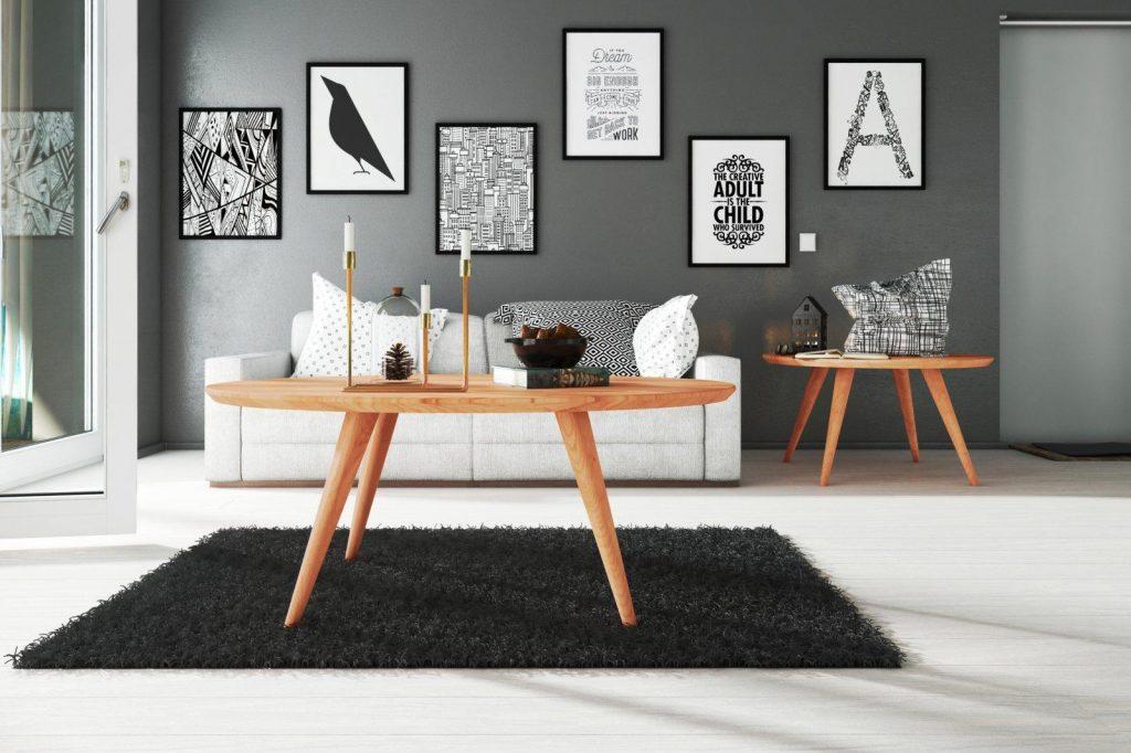 Zdjęcia na ścianie - stolik RIKO
