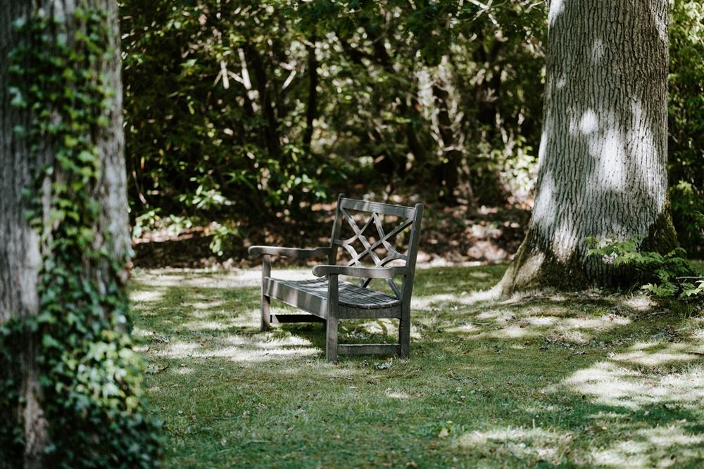 Meble ogrodowe drewniane - ławeczka do impregnacji
