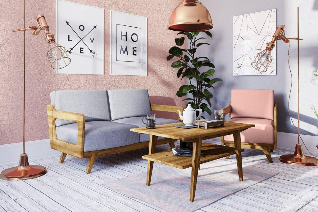 Meble drewniane - kolekcja Retro do salonu