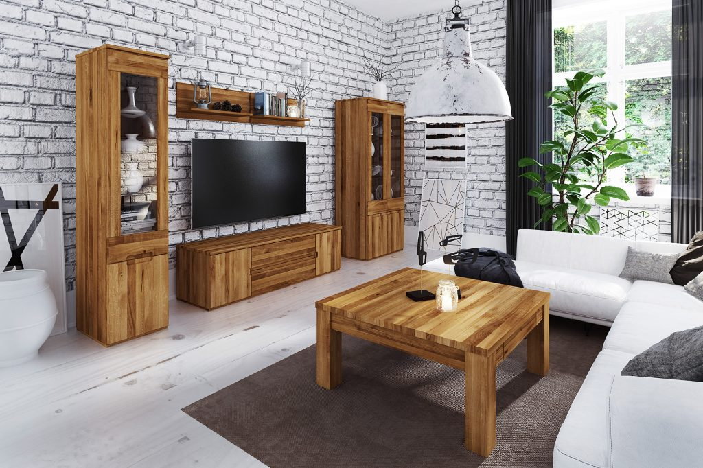 Meble drewniane - kolekcja Vento do salonu