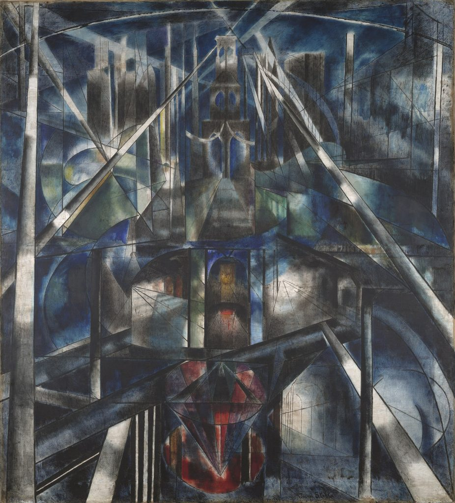 Joseph Stella, 1919-20, Brooklyn Bridge, olej na płótnie, 215.3 x 194.6 cm, Yale University Art Gallery