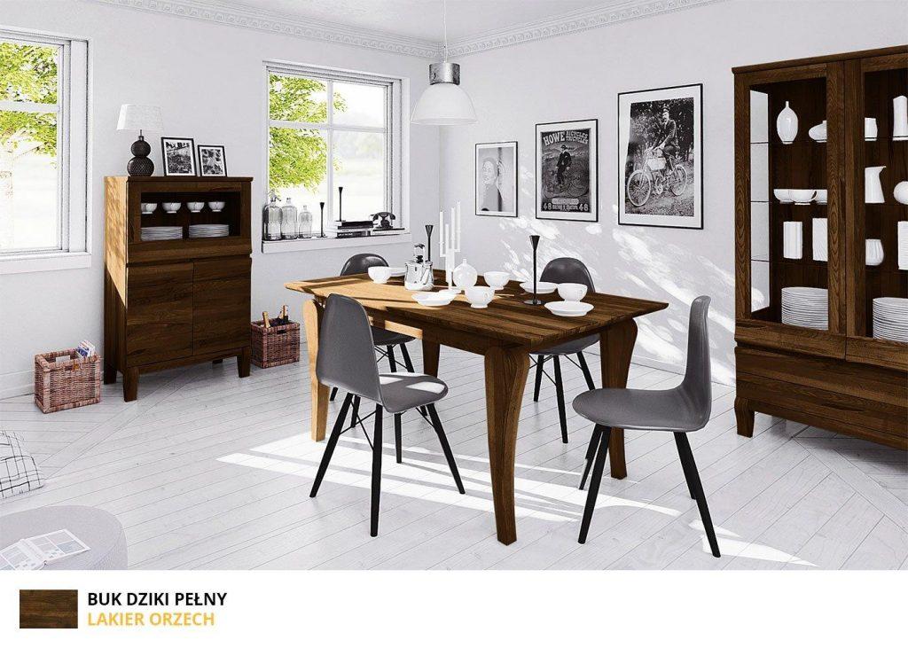 Meble do salonu z kolekcji Bona - wykończenie lakier orzech