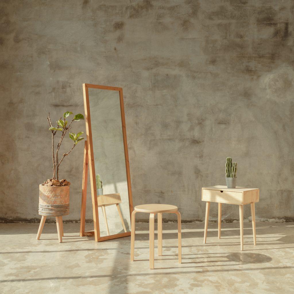Minimalistyczna aranżacja salonu