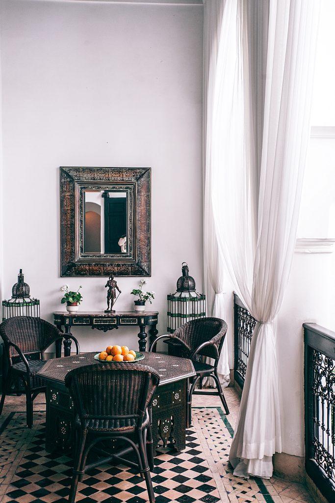 Porte-fenetre pokój dzienny i jadalnia