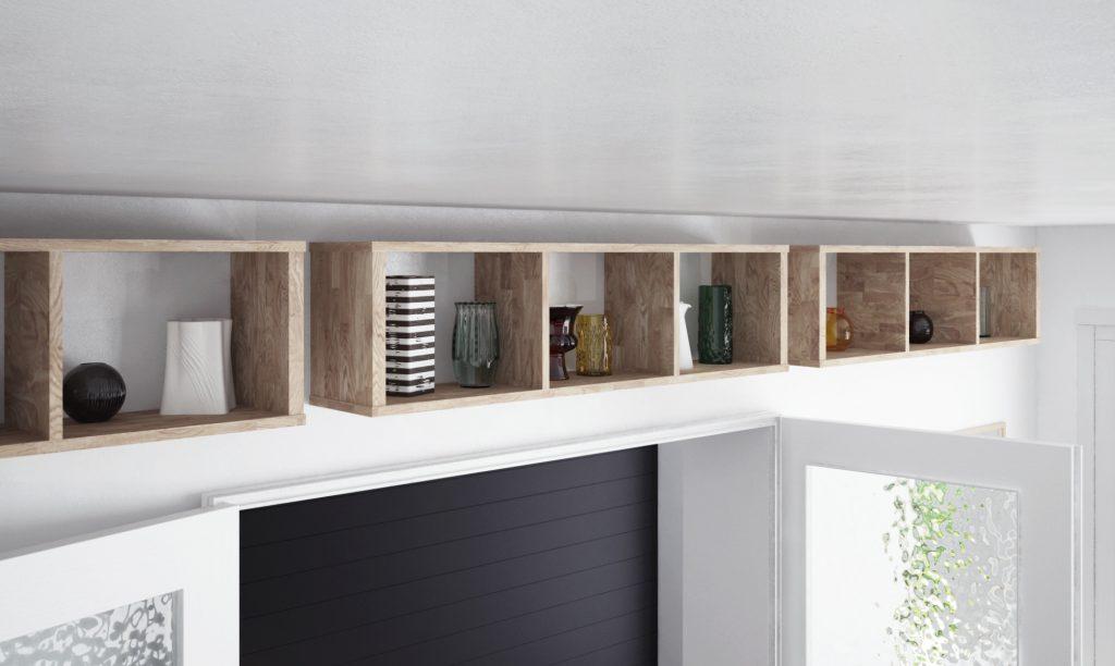Półki drewniane z kolekcji James