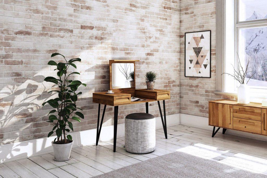 drewniana toaletka z lustrem GOLO