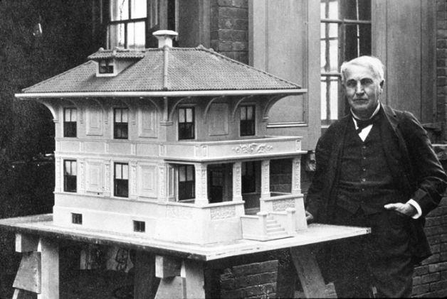 Betonowy dom Thomasa Edisona - makieta