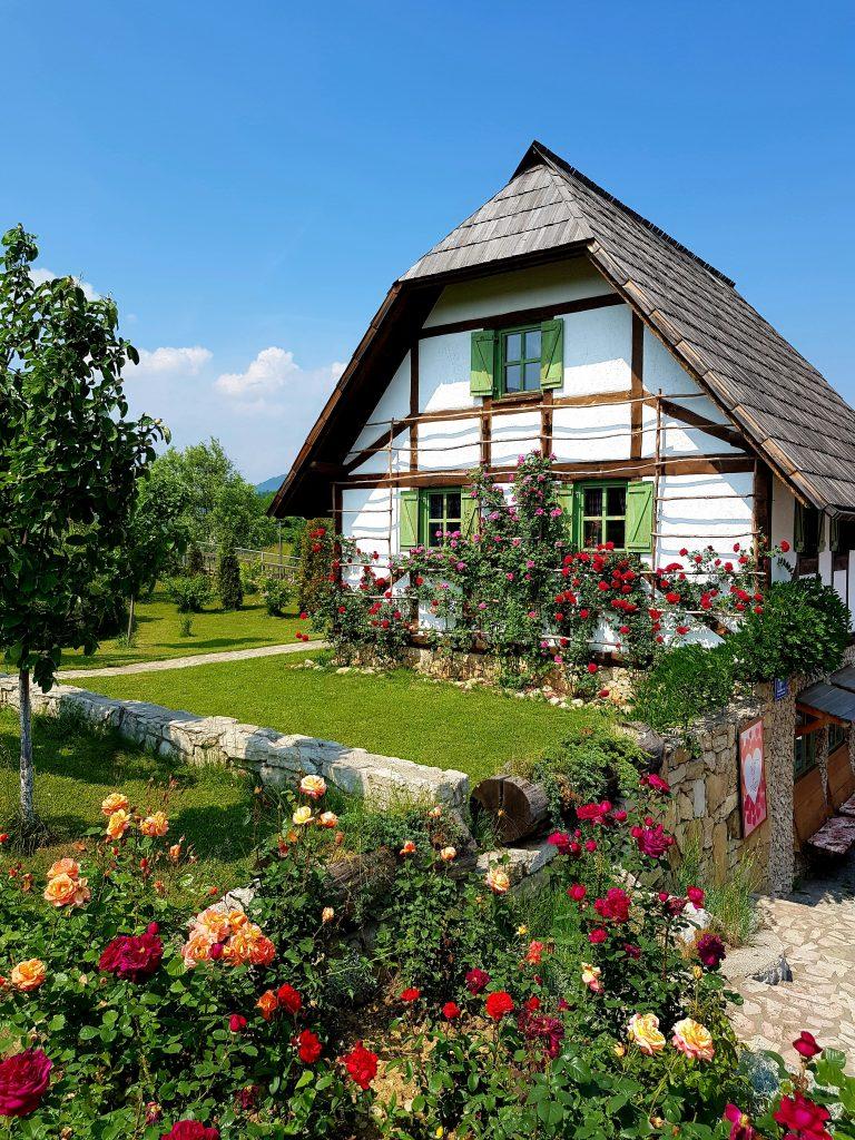 Dom z ogródkiem. Wiejski dom