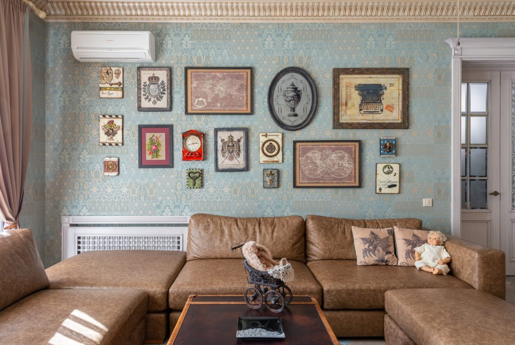 Wnętrze rustykalne - bogate wzornictwo i desenie