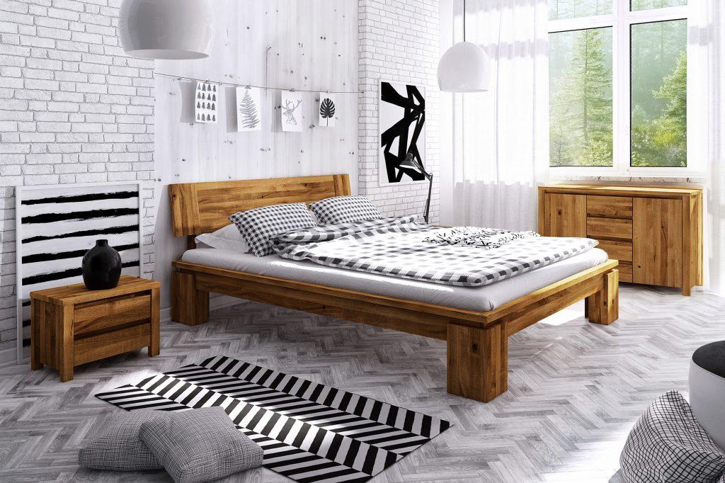 Aranżacja sypialni - meble drewniane z kolekcji Vinci