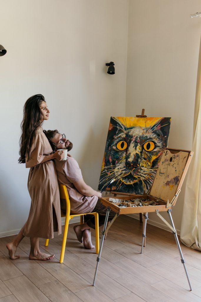 Dzieła sztuki młodych artystów